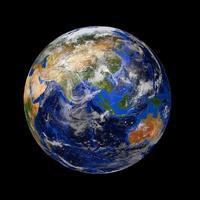 planète terre en marbre bleu photo