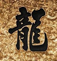 calligraphie asiatique - dragon
