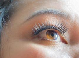 oeil de femme asiatique