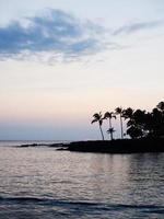 coucher de soleil sur l'île d'Hawaï