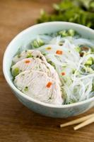 soupe de poulet asiatique photo