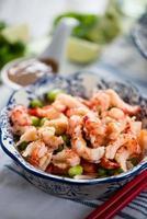 salade saine de style asiatique