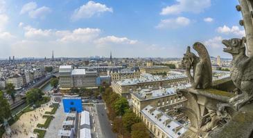 vue aérienne de paris de notre-dame photo