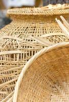 récipient artisanal naturel asiatique. photo