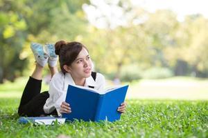 étudiant asiatique dans le parc