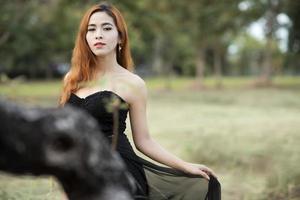 photographie de portrait de femme asiatique photo
