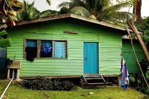 Maison locale, l'île de Vanua Levu, Fidji