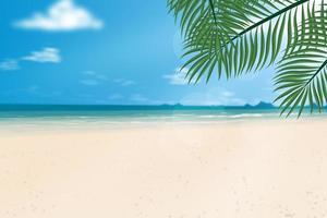 plage de sable en été.