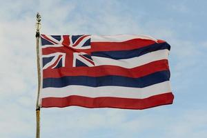 drapeau de l'état d'Hawaï photo