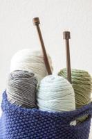 fil à tricoter photo