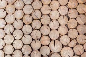 fond fait de rondins de bois de chauffage photo