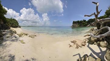 plage paradisiaque de l'île tropicale parfaite photo