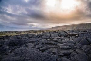 ciel dramatique près de kilauea, hawaï