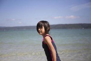 fille sur la plage photo