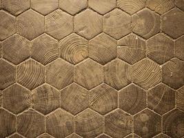 motif hexagonal en bois photo