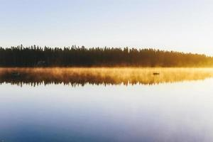 brouillard du matin. photo