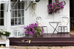 détail de la maison en bois photo