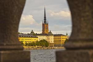 vue sur la cathédrale, stockholm, suède
