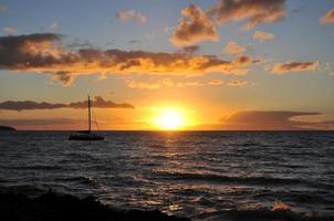 coucher de soleil à maui - hawaï