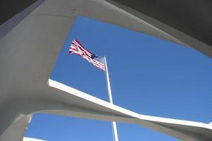 uss arizona / pearl harbour memorial photo