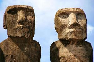 ahu tongariki, moai à l'île de pâques