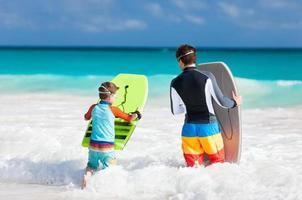 plaisir de plage en famille