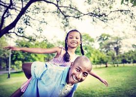 bonheur africain famille vacances vacances activité concept photo
