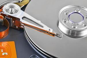à l'intérieur du disque dur, dof photo