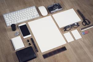 maquette de conception de papier à en-tête photo