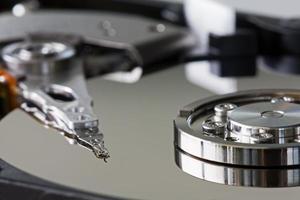 à l'intérieur d'un disque dur photo