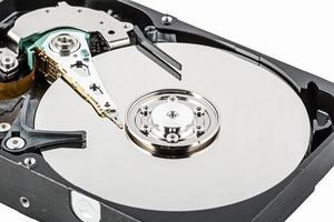 détailler les parties d'un disque dur photo