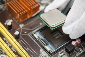 ingénieurs ordinateur. photo