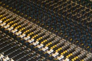 table de mixage studio photo