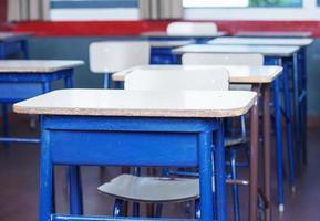 bureaux et chaises d'école photo