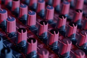 boutons pour différents réglages d'un panneau de contrôle photo