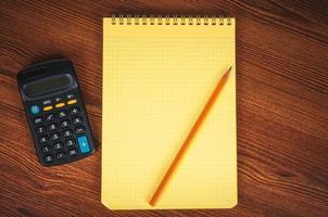liste de courses avec calculatrice photo