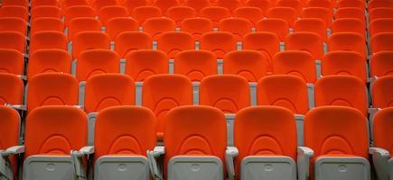 sièges d'auditorium photo