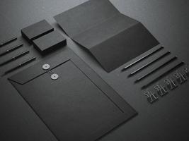 maquette de marque noire photo