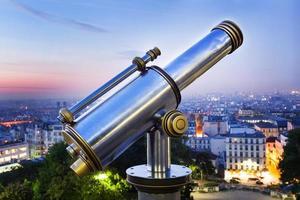 paris - télescope touristique photo