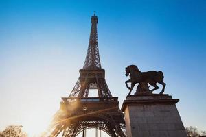 lever du soleil à paris photo