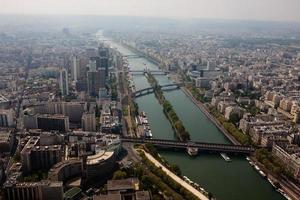 vue aérienne de paris photo