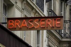 signe de brasserie à paris photo