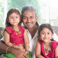 père et filles photo
