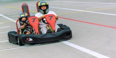 premier entraînement de karting photo