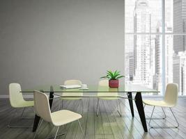 salle à manger souhaite tabel et chaises photo