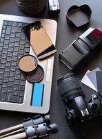 bureau avec équipement de photographie