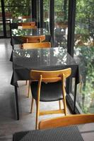 gros plan chaise en bois photo