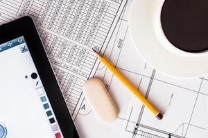 création du projet de design, le travail pour votre tablette