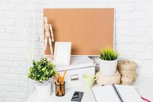 espace de travail élégant à la maison