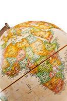 un globe qui montre l'Afrique